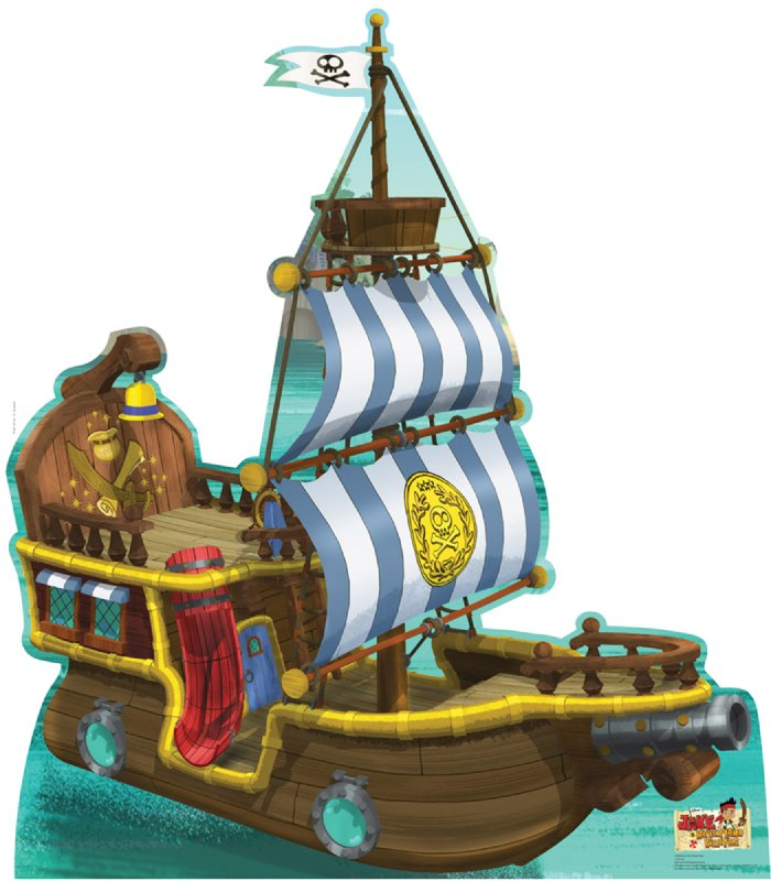 Bucky Pirate Ship - Jake and the Neverland Pirates Cardboard Cutout Standup Prop