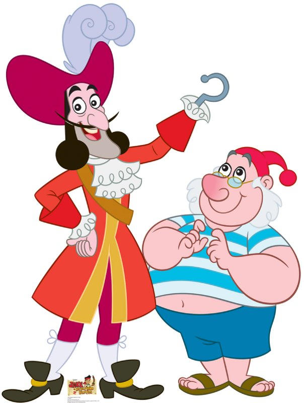 Captain Hook and Mr. Smee - Jake and the Neverland Pirates Cardboard Cutout Standup Prop