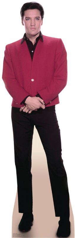 Elvis Red Jacket - Elvis Cardboard Cutout Standup Prop