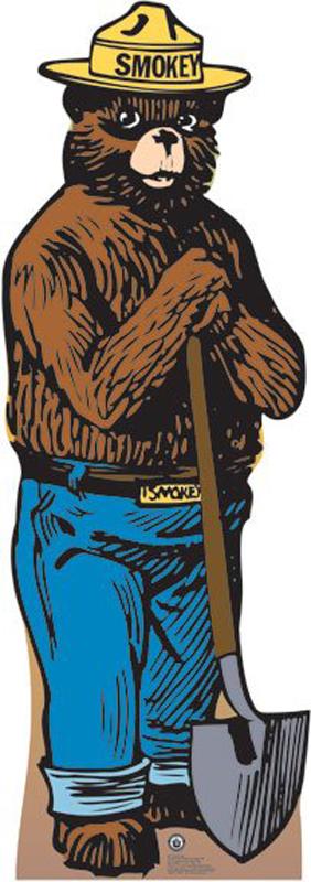 Smokey Bear - USDA Forest Service Cardboard Cutout Standup Prop