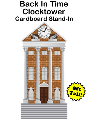 Back In Time Clocktower Cardboard Cutout Standup Prop (8 FT)
