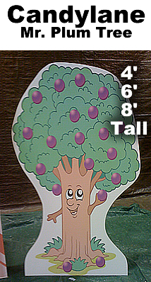 Mr. Plum Tree Cardboard Cutout Standup Prop