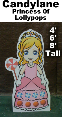 Princess of Lollypops Cardboard Cutout Standup Prop