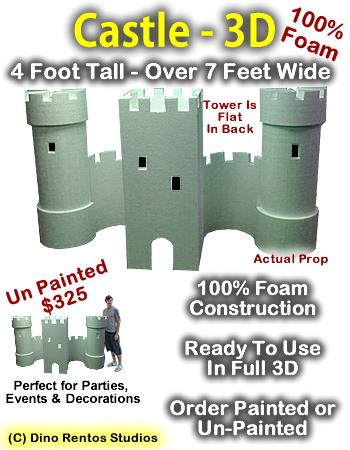 Big 3D Castle Foam Prop