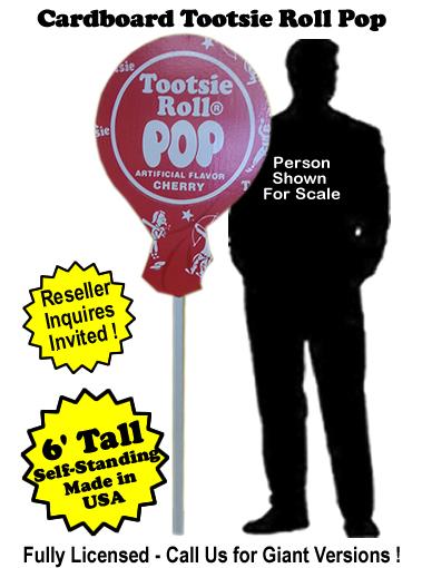 Tootsie Roll Pop Cardboard Cutout Standup Prop - Self Standing
