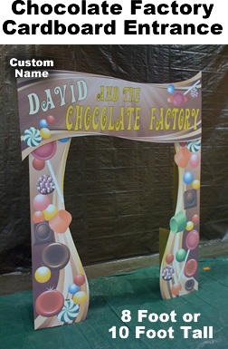 Chocolate Factory Entrance Cardboard Cutout Standup Prop