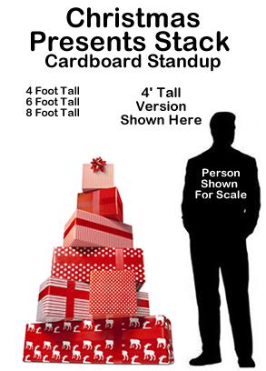Christmas Presents Stack Cardboard Cutout Standup Prop