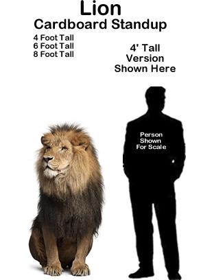 Lion Cardboard Cutout Standup Prop