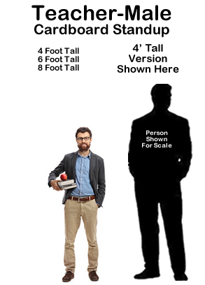 Teacher Male Cardboard Cutout Standup Prop