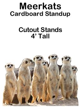 Meerkats Cardboard Cutout Standup Prop