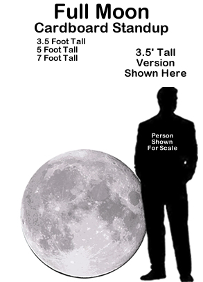 Full Moon Cardboard Cutout Prop