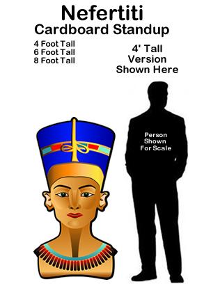 Egyptian Nefertiti Cardboard Cutout Standup Prop