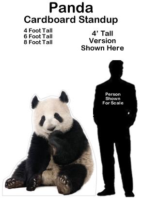 Panda Cardboard Cutout Standup Prop
