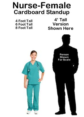Nurse Female Cardboard Cutout Standup Prop