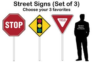 Street Signs Cardboard Cutout Standup Props