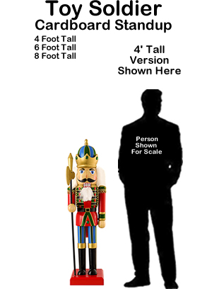 Toy Soldier Cardboard Cutout Standup Prop