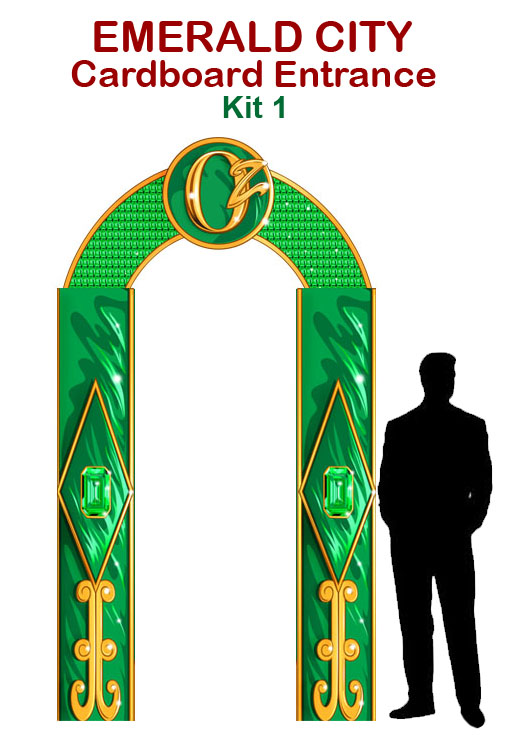 Emerald City Entrance Cardboard Cutout Prop