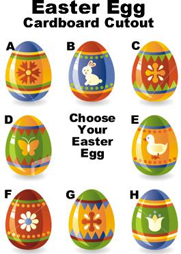Easter Egg Cardboard Cutout Standup Prop