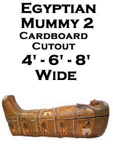 Egyptian Mummy 2 Cardboard Cutout Standup Prop