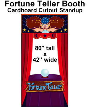 Fortune Teller Booth Cardboard Cutout Standup Prop