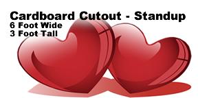 Hearts Cardboard Cutout Prop