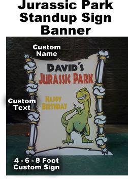Jurassic Park Sign Cardboard Cutout Standup Prop
