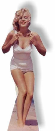 Marilyn Monroe - White Swimsuit Cardboard Cutout Standup