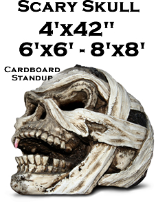 Scary Skull Cardboard Cutout Standup Prop
