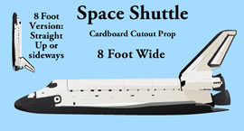 Space Shuttle Cardboard Cutout Standup Prop