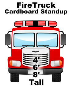 Fire Truck Cardboard Cutout Standup Prop