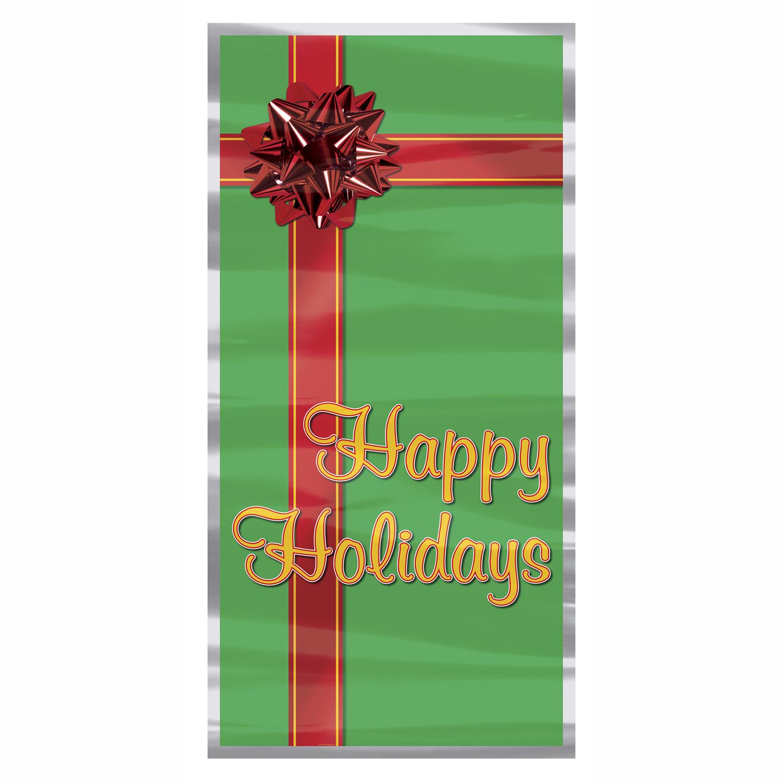 """Happy Holidays Door Cover 30"""" x 5'"""