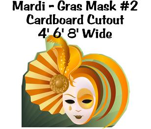 Mardi Gras Mask 2 Cardboard Cutout Standup Prop