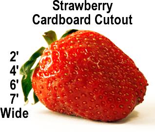 Strawberry Cardboard Cutout Standup Prop