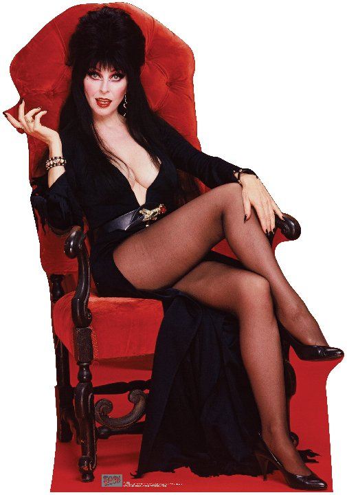 Elvira Chair - Halloween Cardboard Cutout Standup Prop