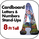 8 Foot Tall Cardboard Letters-Numbers Standup