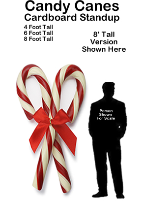 Candy Canes Cardboard Cutout Standup Prop