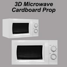 3D Cardboard Microwave