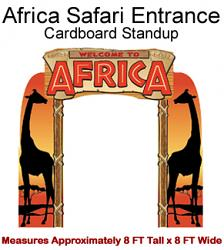 Africa Safari Entrance Cardboard Cutout Standup Prop