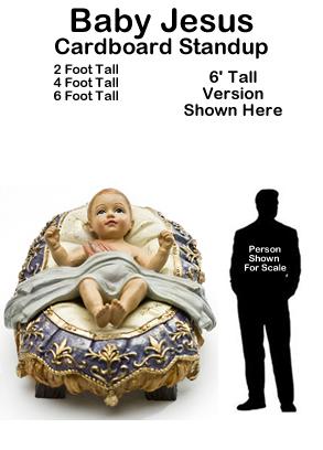 Baby Jesus - Nativity - Cardboard Cutout Standup Prop