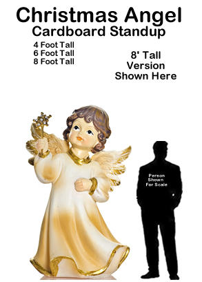 Christmas Angel Cardboard Cutout Standup Prop