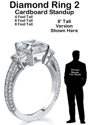 Diamond Ring 2 Cardboard Cutout Standup Prop