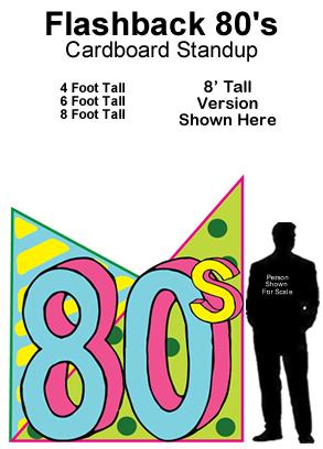 Flashback 80s Cardboard Cutout Standup Prop