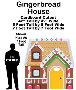 Gingerbread House Cardboard Cutout Standup Prop