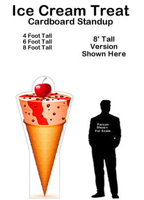 Ice Cream Treat Cardboard Cutout Standup Prop