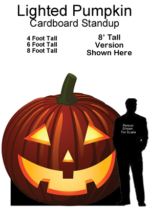 Lighted Pumpkin Cardboard Cutout Standup Prop