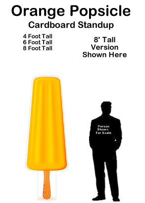 Orange Popsicle Cardboard Cutout Standup Prop