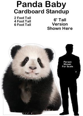 Panda Baby Cardboard Cutout Standup Prop