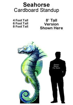 Seahorse Cardboard Cutout Standup Prop