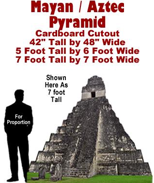Mayan - Aztec Pyramid Cardboard Cutout Standup Prop