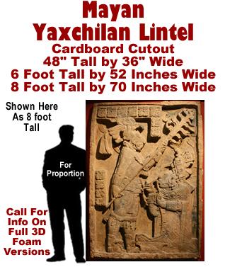 Mayan - Yaxchilan Lintel Cardboard Cutout Standup Prop
